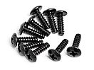 Round Head Self-Tapping Screw M3x10mm (10Pcs)