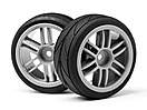 Split 6 Spoke Wheels and Cut Slick Tyres (2Pcs) (Strada EVO TC)