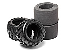Tyres w/Inserts 2 Pcs (Blackout MT)