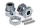 WHEEL ADAPTOR, WHEEL NUT AND SHAFTS (FRONT - XB)