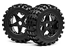 BLACKOUT XB MOUNTED WHEEL AND TYRE SET (FRONT) PR