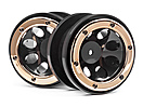 WHEELS W/GOLD BEADLOCKS (2PCS)