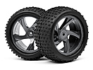 1/18 Truggy Wheel and Tyre Assembly (Ion XT)