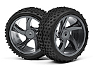 1/18 Buggy Wheel and Tyre Assembly (Ion XB)